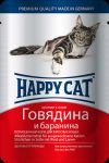 Консервы для кошек Happy Cat говядина,баранина 100г