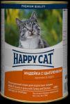 Консервы для кошек Happy Cat индейка, цыпленок 400г