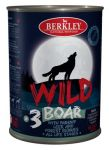 Корм для собак Berkley WILD Кабан с пастернаком, сладким луком и лесными ягодами №3 консервы 400г