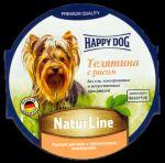 Консервы для собак Happy Dog Телятина с рисом паштет 85гр