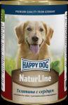 Консервы для собак Happy Dog Телятина с сердцем  400г