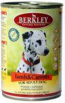 Корм для собак Berkley ягнёнок с морковью консервы 400г
