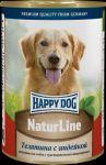 Консервы для собак Happy Dog Телятина с индейкой  400г
