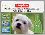 Капли от блох и клещей Beaphar BIO Small Dogs для собак мелких (<15кг) пород, 3 пипетки