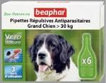 Капли от блох и клещей Beaphar BIO Large Dogs для собак крупных пород (>30кг), 6 пипеток