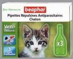 Капли Beaphar BIO для котят против блох и клещей, 3 пипетки