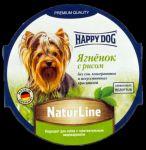 Консервы для собак Happy Dog Ягненок с рисом паштет 85г