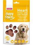 Лакомства Beaphar Happy Snack Нежные сердечки из курицы и трески для собак 60г
