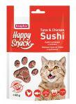 Лакомства Beaphar Happy Snack Нежные суши из тунца и цыпленка для кошек 40г