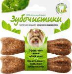 Лакомство Деревенские лакомства Зубочистики со вкусом морских водорослей  для собак мелких пород 2x18г
