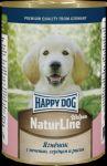 Консервы для собак Happy Dog Аппетитный Ягненок с печень, сердцем и рисом 400г
