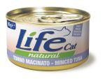 Консервы для кошек Lifecat Minced Skipjack измельченный полосатый тунец в бульоне 85г