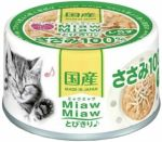 Корм для кошек Aixia  MiawMiaw Tobikiri куриное филе и ширасу консервы 60г