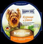 Консервы для собак Happy Dog Курица и утка паштет 85г