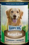 Консервы для собак Happy Dog Телятина с овощами  400г