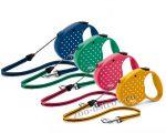 Поводок-рулетка Flexi Dots Small 5м до 12кг тросовый