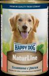Консервы для собак Happy Dog Телятина с рисом  400г