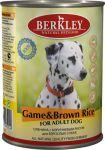 Корм для собак Berkley дичь (оленина) с коричневым рисом консервы 400г