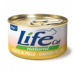 Консервы для кошек Lifecat Chicken курица в бульоне 85г