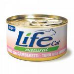 Консервы для кошек Lifecat Chicken - Shrimps курица с креветками в бульоне 85г