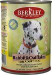 Корм для собак Berkley кролик с овсянкой консервы 400г