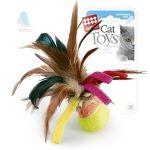 Игрушка Мячик с перьями.GiGwi 75068